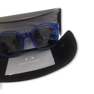 A|X Armani Exchange AX4057S Blue Sunglasses